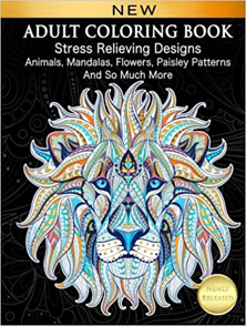 Adult Coloring Book Stress Relieving Designs