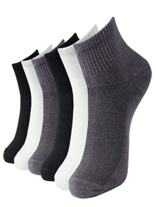 Bamboo Ankle Socks Cushioned Sole Quarter Casual Socks