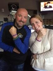 Allen Fee and Ashley Ryan of WARM 106.9 - Seattle