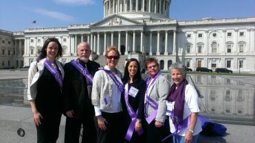 Washington Advocates at the 2014 Advocacy Forum , L to R: Ashley Studerus, Scott Ferguson, Debbie Hunter, Mikaela Louie, Amy Shives and Myriam Marquez
