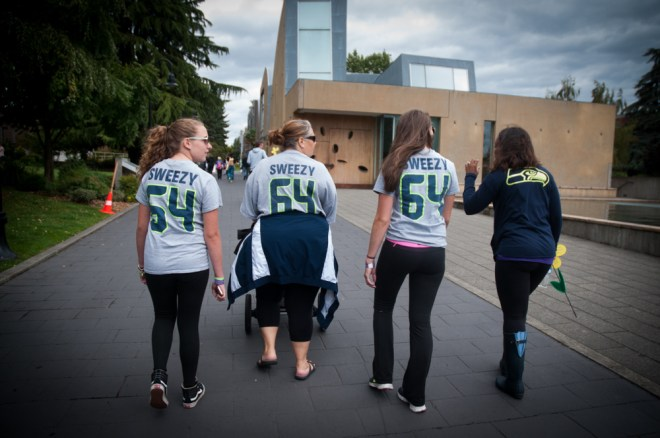 #the12s team walk in honor of J.R. Sweezy's grandfather, Gene Wilhelm who was diagnosed with Alzheimer's nine years ago.