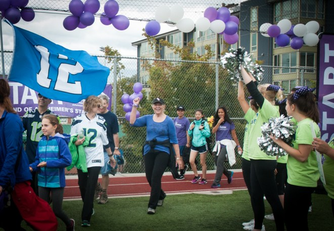 Lori's 12th Man Team walked the J.R. Sweezy's #the12s team at the Seattle Walk to End Alzheimer's.