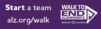 start a walk team