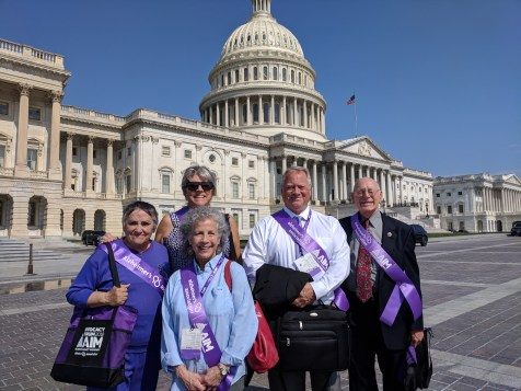 Julie in Washington DC as an Alzheimer's Advocate