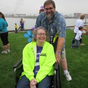 Todd and Sandy at the Walk to End Alzheimer's