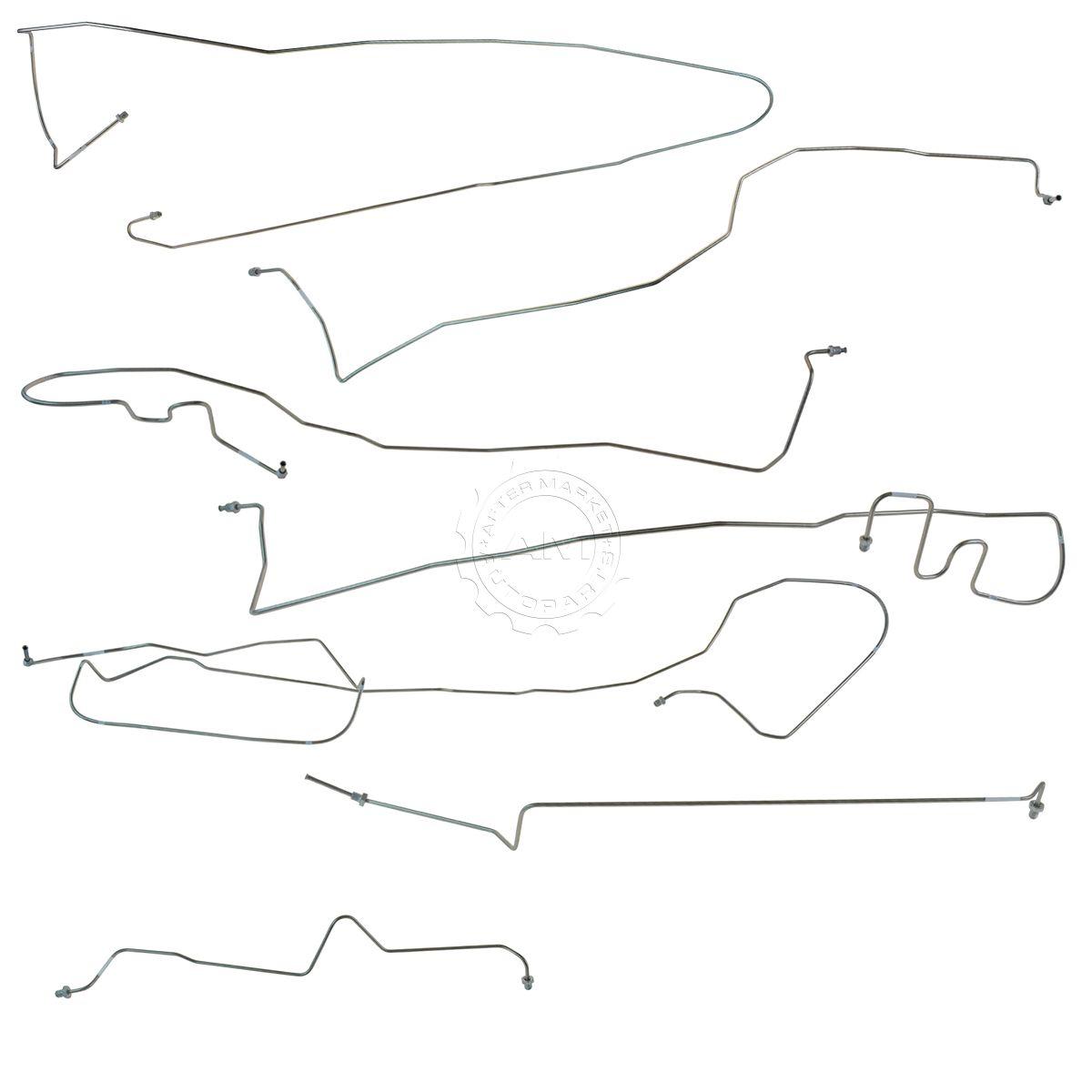 Dorman Stainless Steel Brake Line Kit Set For 00 02 Chevy