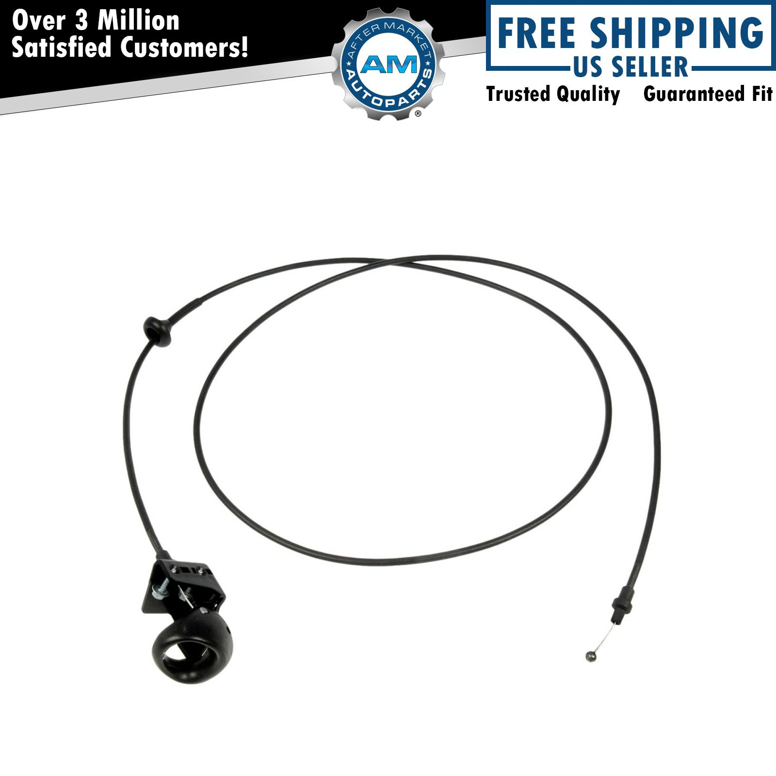 Hood Release Pop Actuator Cable With Handle For Ford