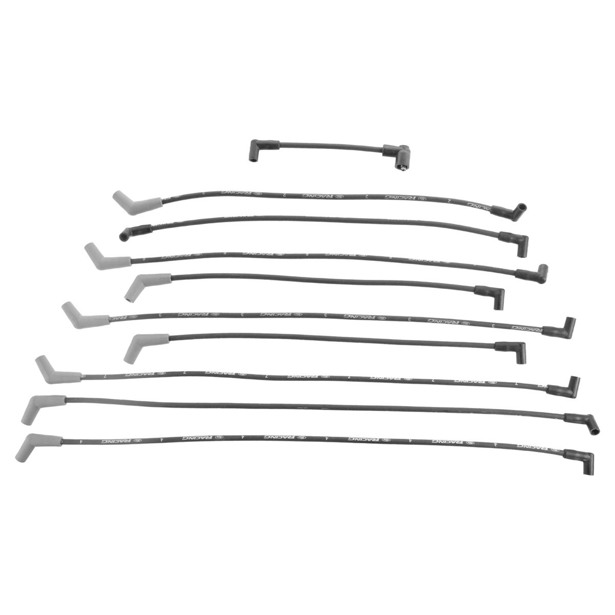 Ford Racing 9mm Black Spark Plug Wire Kit Set For Ford