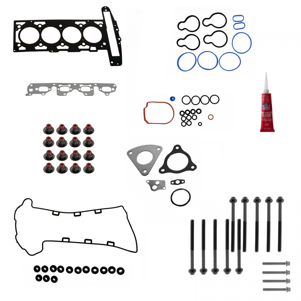 Cylinder Head Gasket Amp Bolt Kit Set For Buick Chevy