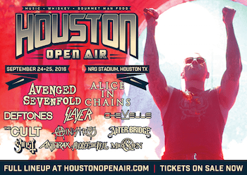 Houston Open Air flyer with partial band lineup