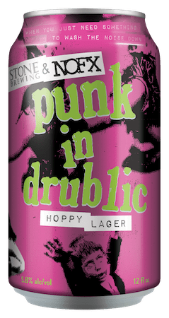 Stone Brewing & NOFX Punk in Drublic Hoppy Lager can