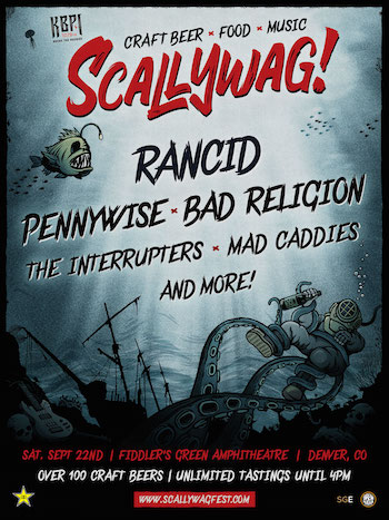 Scallywag! Denver flyer with band lineup and show details