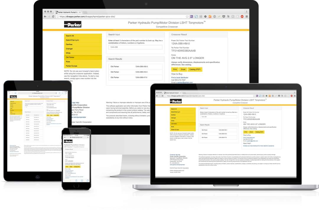 Crossover app displayed on desktop, laptop, tablet and smartphone