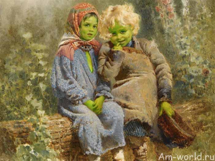 Зеленые дети из Вулпита