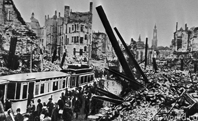 Бомбардировка городов ассами люфтваффе