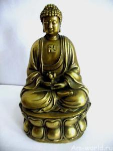 Фигурка Будды и свастика нацистов