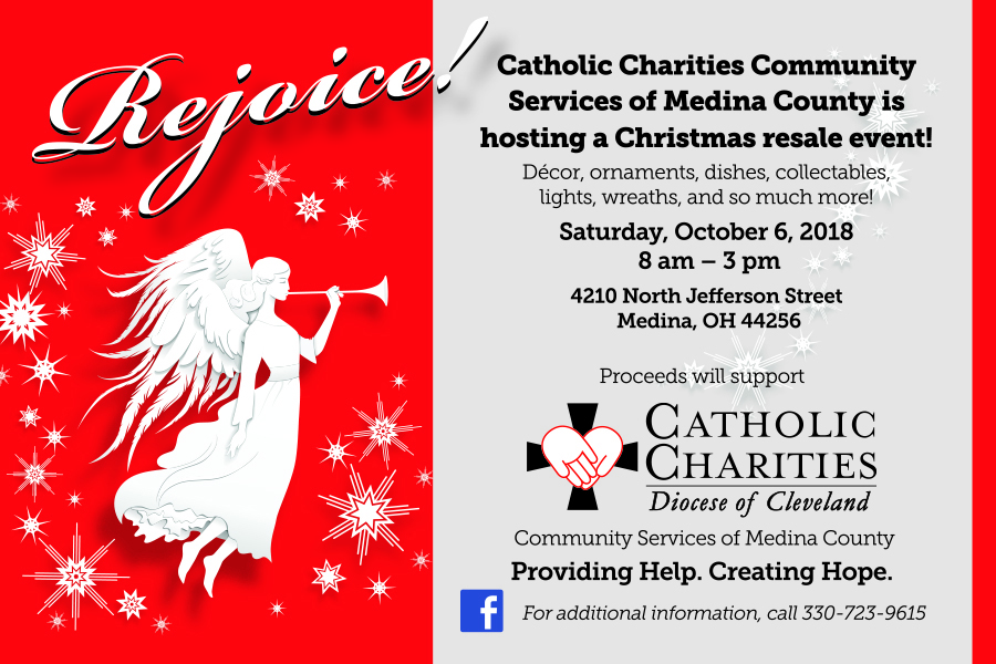 this is catholic charities of medina countys 3rd annual christmas memories resale shop come shop for christmas treasures at bargain prices - Hope For Christmas