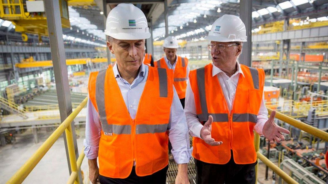 Macri benefició a Techint con exención de cargas sociales en 2019