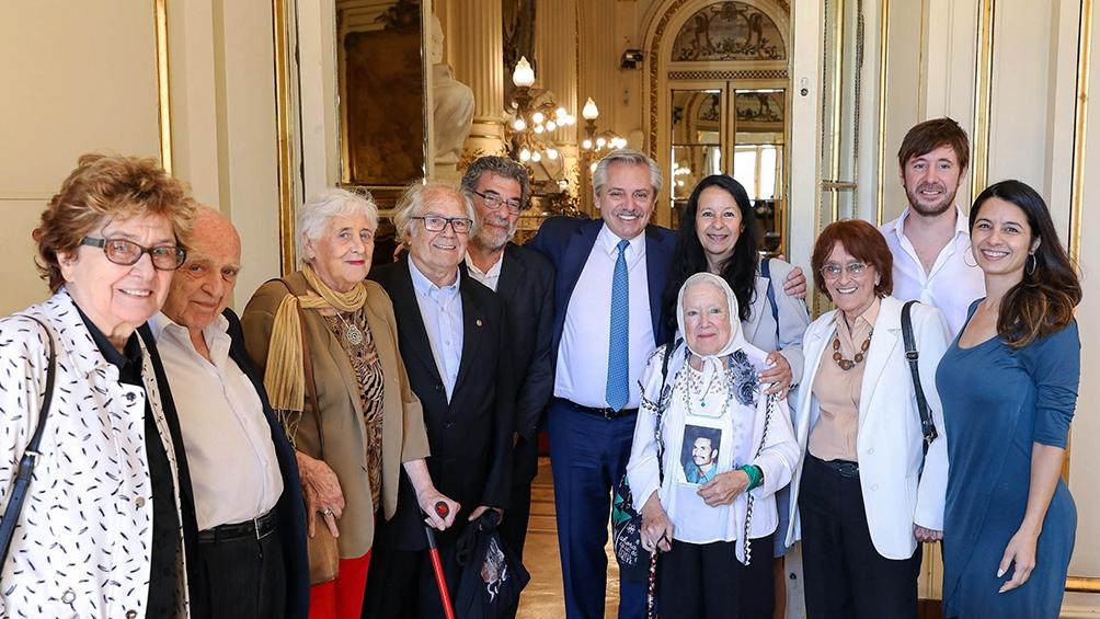 Alberto Fernández recibió a Nora Cortiñas y referentes de organismos de Derechos Humanos