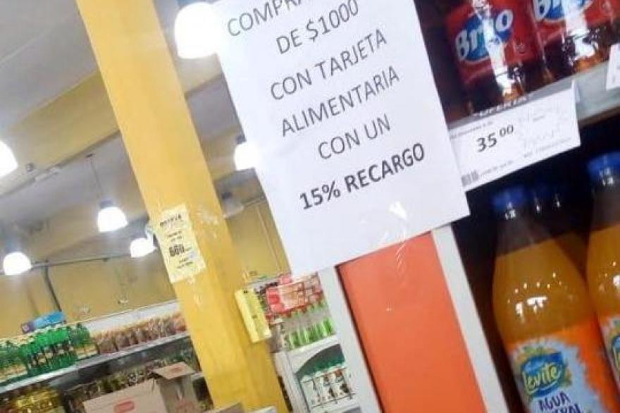 Multan a supermercado que cobraba un 15% de más por usar tarjeta AlimentAR