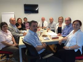 Meeting with Hrant Dink Foundation with Rev. Kirkor Ağabaloğlu (front left) and Rakel Dink (front right)
