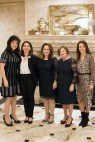 Members of the auction committee, L to R: Margaret Rassam, Nayri Gueyikian, Maral Sahagian, Elbiz Baghdikian, and Jackie Voskian
