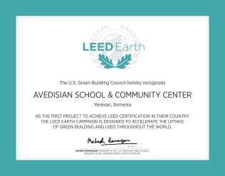 LEED Earth Certificate