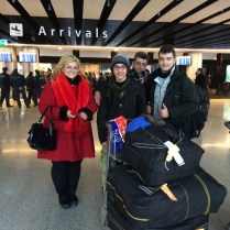 Syrian Armenian family arrive at Zvartnots Airport