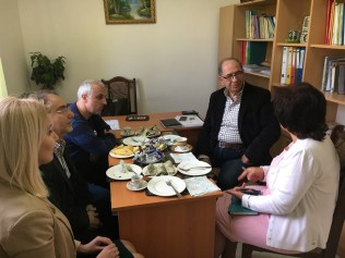Zaven Khanjian meets with the leadership of Shogh Center in Artsakh