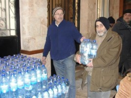 Distribution of water, Aleppo