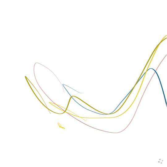líneas curvas arte abstracto