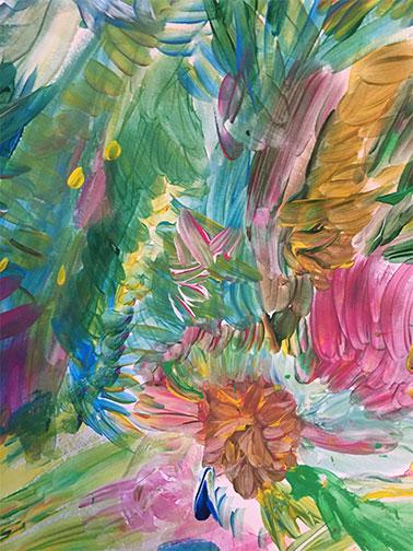 pintura abstracta acrilico sobre papel