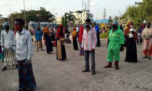 ধান কাটার শ্রমিক পাঠাচ্ছে সিএমপি, প্রথম দফায় কিশোরগঞ্জে