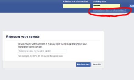 Récupérer votre compte Facebook piraté