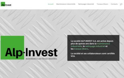 Le site d'ALP-INVEST S.A. en ligne