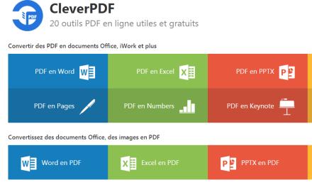 ClerverPDF : le couteau suisse des fichiers PDF en ligne!