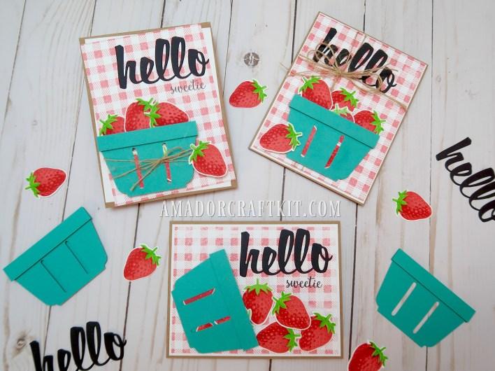 Berry Hello card