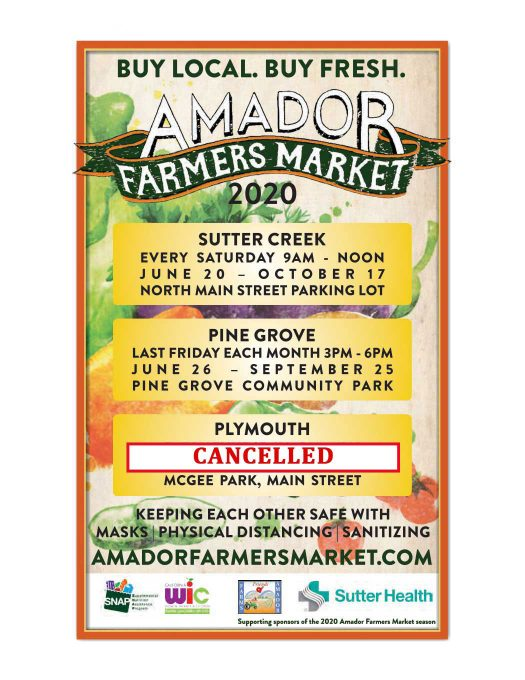 Farms of Amador schedule 2020