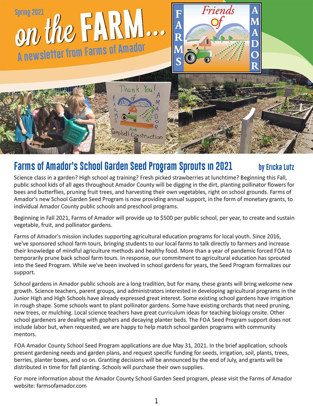 foa spring newsletter pg 1