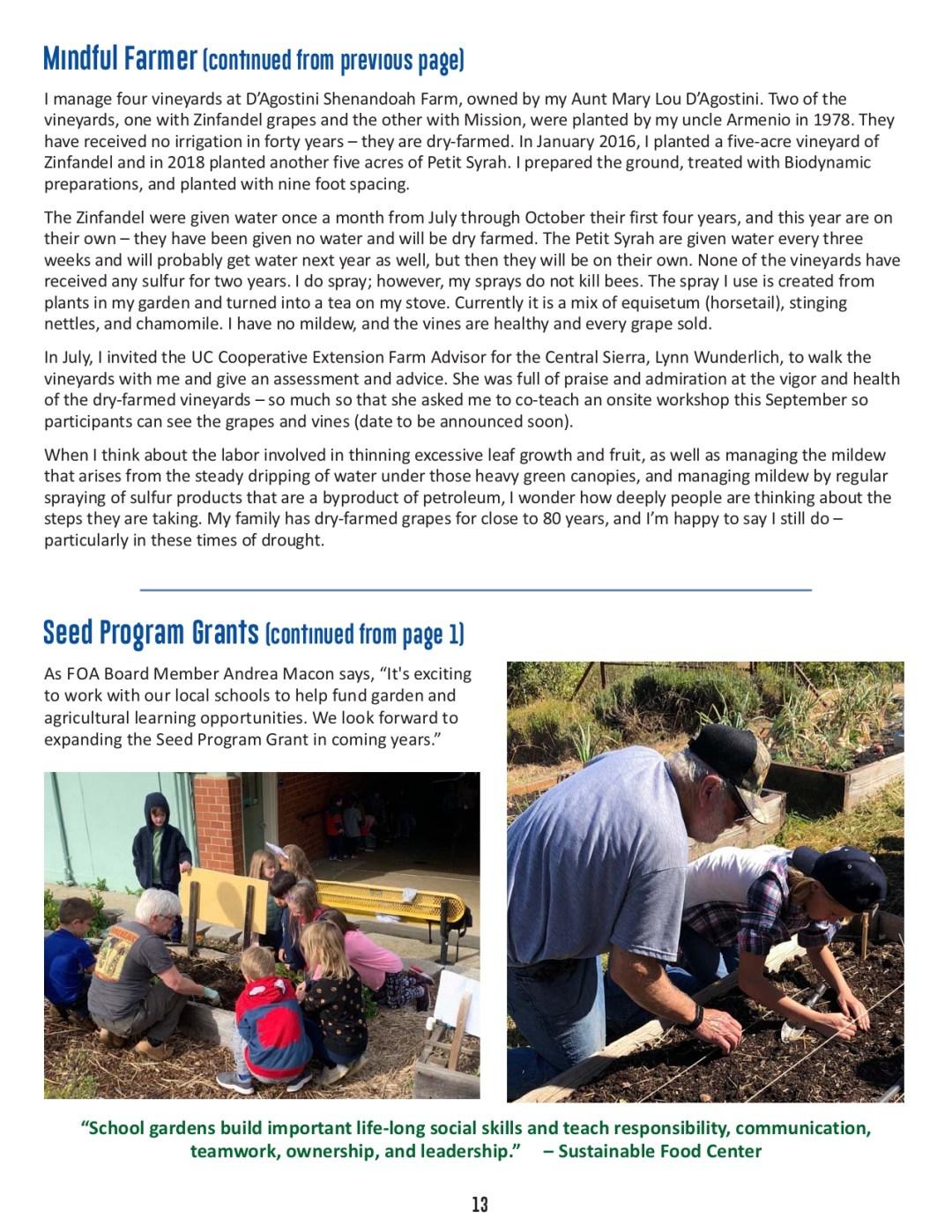 FOA Newsletter - Summer 2021 - pg 13