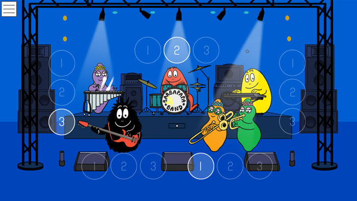 jeu instruments musique barbapapa application