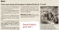 Ouest-France, avril 2011