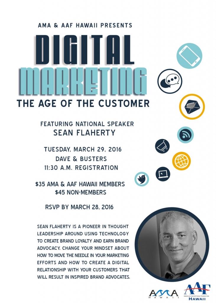 digital marketing flier