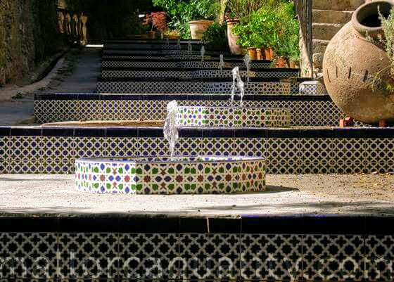 Dettaglio scalinata Granja de Esporles