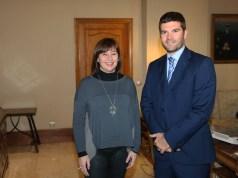 Presidente del Gobierno las Islas Baleares Francina Armengol con il console onorario Alessio Paoletti