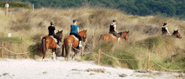 Escursione a cavallo a Maiorca - spiaggia