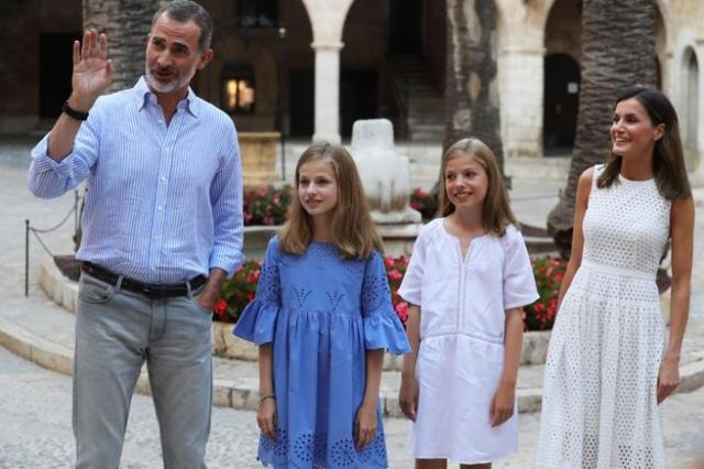 La famiglia reale spagnola a Maiorca - (Ballesteros / EFE)q