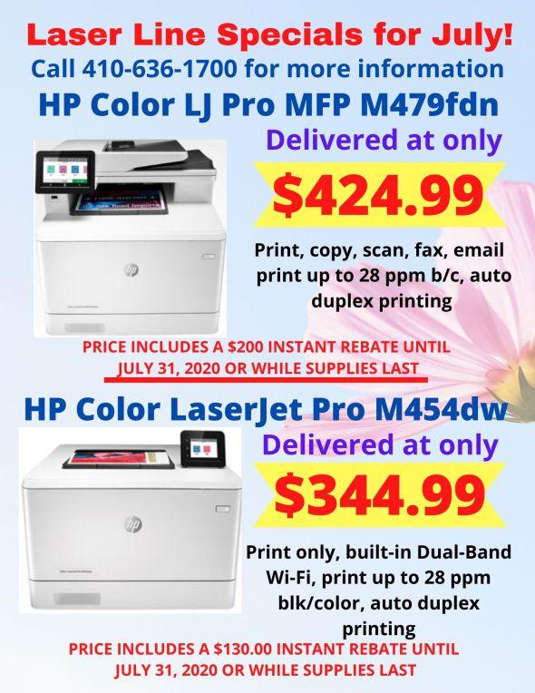 Laser Line July Printer Specials