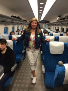 On the bullet train en route to Kyoto
