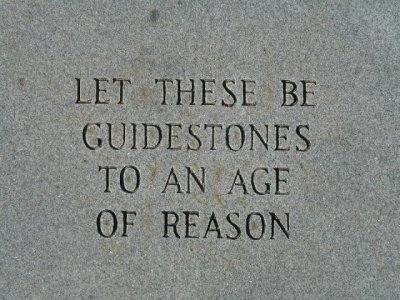 Let these be guidstones to and Age of Reason